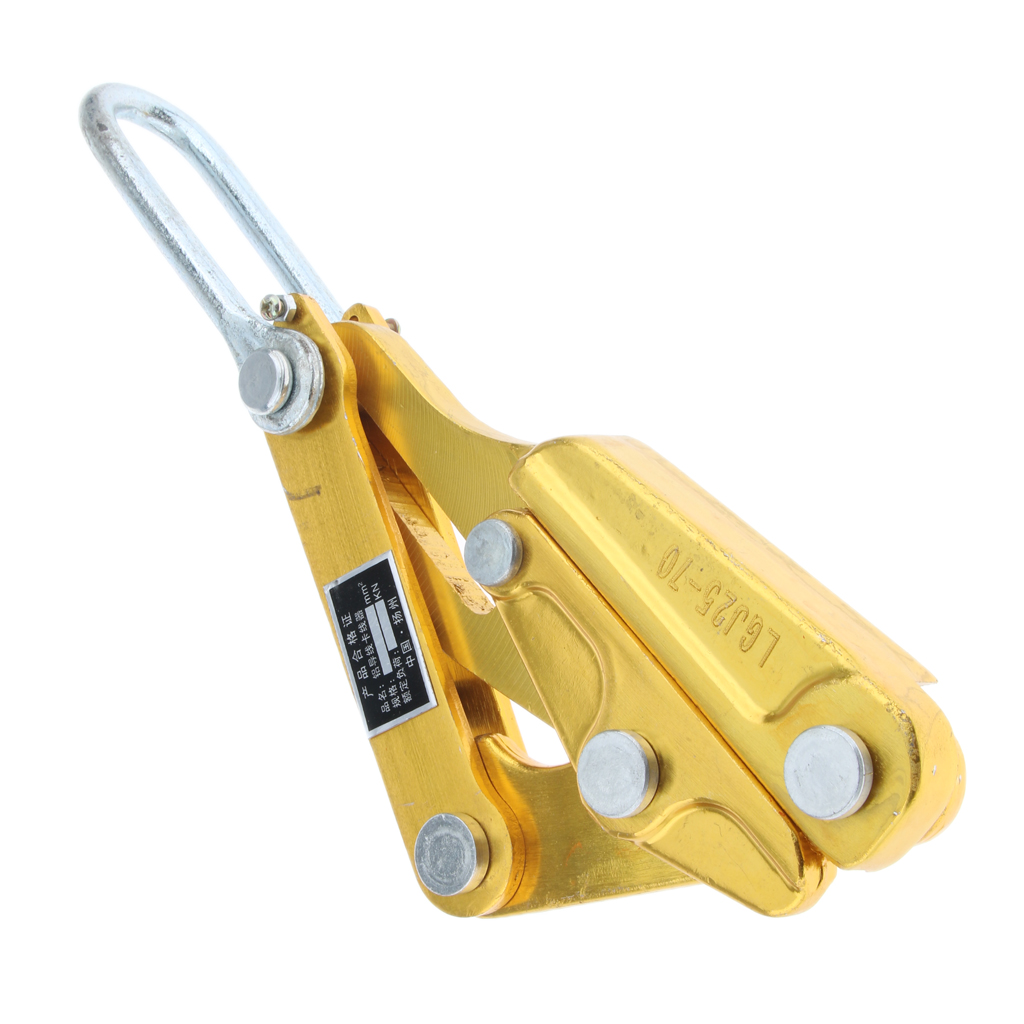25-50mm/² // 10KN YJINGRUI Cable Wire Rope Grip Puller Pulling Tightening Tool Galvanized Hand Puller with 2 Clampings