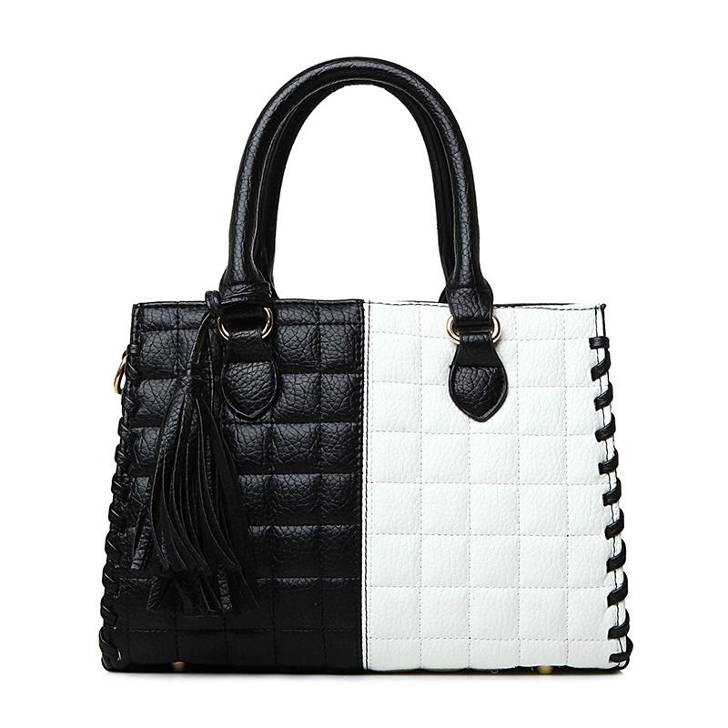 new arrival women messenger bags patchwork lattice ladies handbags fashion tassel shoulder bag quality pu leather crossbody bags<br><br>Aliexpress