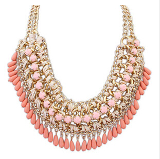 2015 New Good Quality Bohemia Crystal Beads Gold Plated Short Choker Pendant Necklace Woman 2015New Statement SALE Gift - Olaru Store store