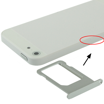 High Quality Sim Card Tray Support for iPhone 5 (Silver)