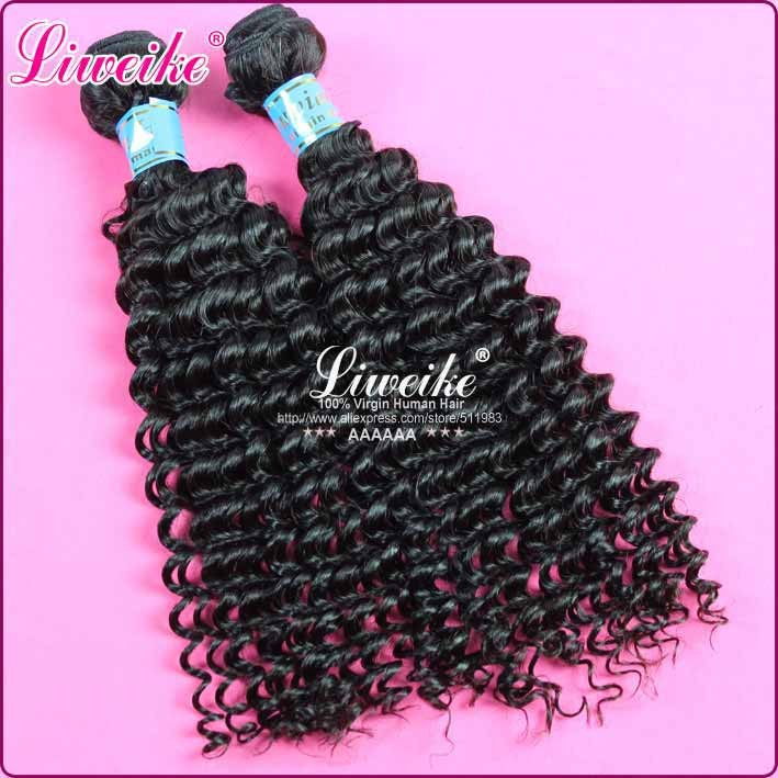 virgin peruvian hair deep curly 1 piece lot 6A unprocessed top quality hair products free shipping 12-30 inch in stock