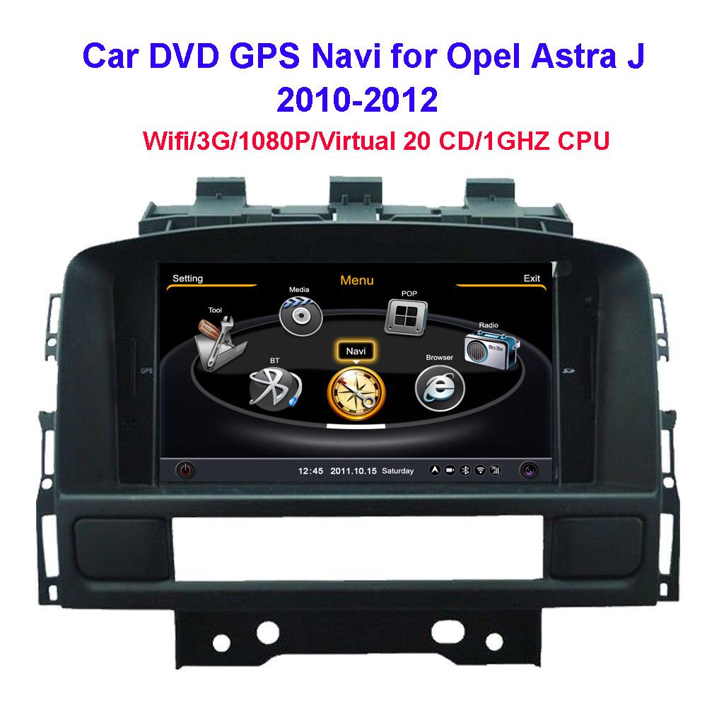 brand 7 39 39 car dvd gps navi autoradio for opel astra j 2010. Black Bedroom Furniture Sets. Home Design Ideas