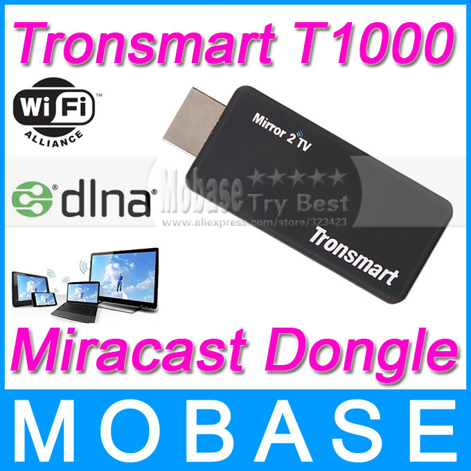 Tronsmart T1000 Miracast Dongle HDMI Wireless Display DLNA Ezcast Mirror2TV IPTV Android TV Stick(China (Mainland))