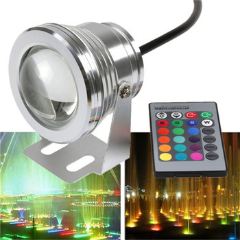 10W DC12v underwater RGB Led Lights  Waterproof IP68 fountain&amp;Swimming pool Lamp 16 color change with 24key IR Remote controller<br><br>Aliexpress