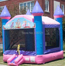 Commercial inflatable castle princess bounce house with blower(China (Mainland))