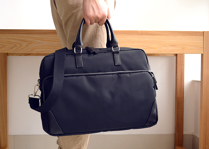 LAN nylon men's leisure briefcase handbag nylon light laptop bag computer bag businss shoulder bag(China (Mainland))