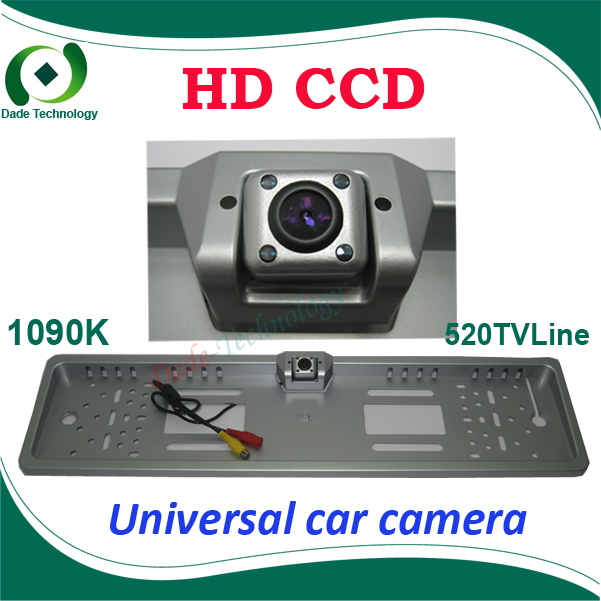Universal EU European Car License CCD rear view camera Plate Frame parking camera front view camera with led light night vision(China (Mainland))
