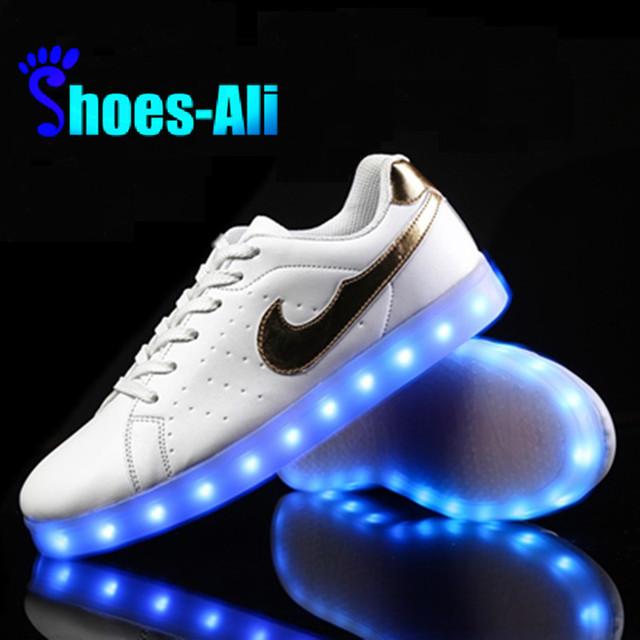 Led luminoso 2015 cesta llevó blanco Casual zapatos zapatos Led para Unisex moda para adultos se