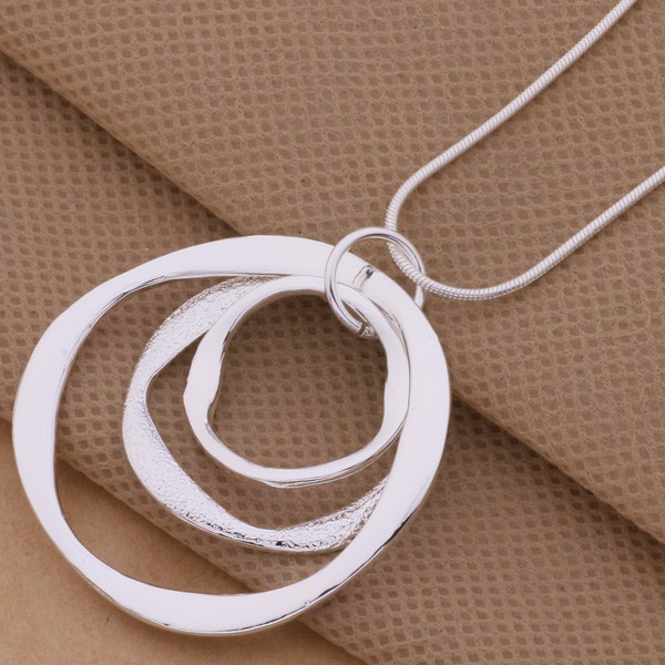 product Free Shipping 925 Silver Necklaces & Pendants Fashion Silver Jewelry Article 3 the circular strip /epzanhga bfvajxca AN200