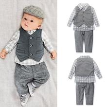 Buy New Baby Boy clothing Sets kids 3pcs/set Vest+ shirt + Pants children Boys Autumn Casual Clothes kids costume Q3 for $18.33 in AliExpress store