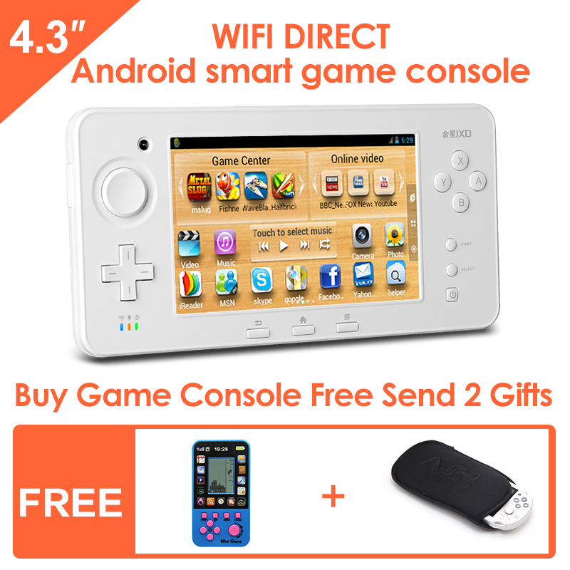 JXD S603 4.3-inch Touch Screen Android Smart Handheld Game Console Tablet PC Support simulator and Android games HDMI1080P out(China (Mainland))