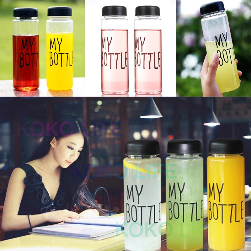 My Bottle 500 ml Korean Style Plastic Water Drink Cup Fruit juice blender Sports Tour for bike Drinkware to blender bottles(China (Mainland))