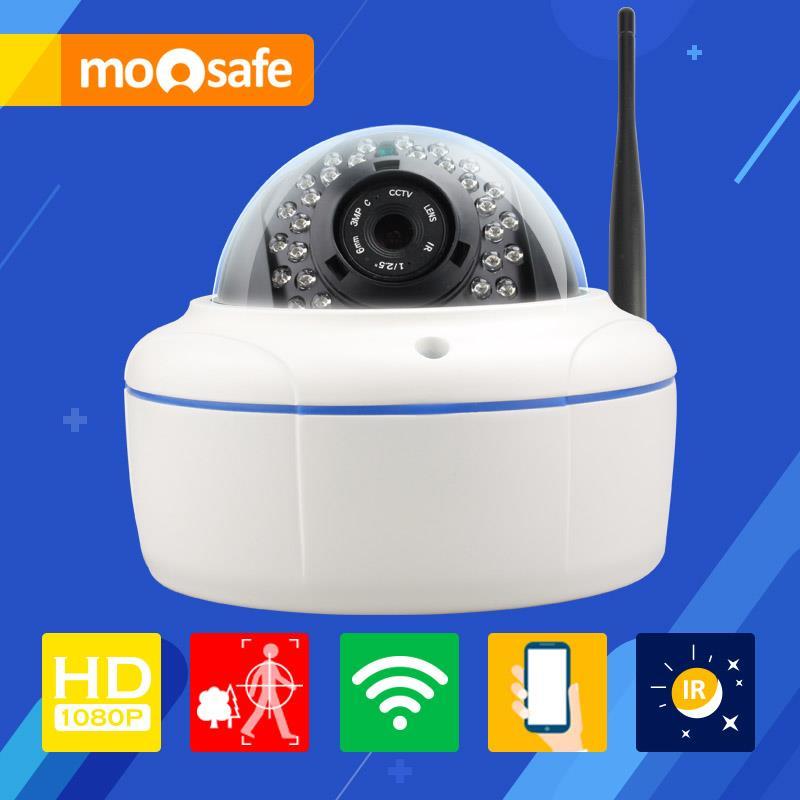 Mosafe 2.0M Wifi Camera 802.11 b/g/n 30 pcs LED IR night vision with auto switch IP66 waterproof Onvif cctv video Cameras(China (Mainland))