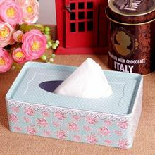 free shipping Creative lovely flower london flag tin-plated tissue box(China (Mainland))