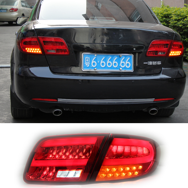 Lighting LED Tail Lamp for Mazda 6 2003 2004 2005 2006 2007 Rear Lights DRL Trunk Lamp Cover Signal+brake+reverse Car styling<br><br>Aliexpress