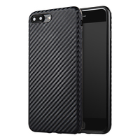 7Plus Carbon Fiber Soft TPU Cover For iPhone 7 7 Plus Soft Silicone Case For iPhone7 Celular Mobile Phone Bags Cases Accessories