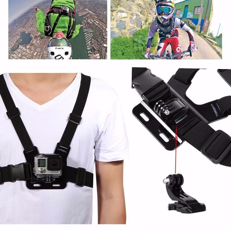 Xiaomi Yi GoPro Accessories Set Helmet Chest Head Monopod Mount Strap For Go Pro Hero 4 2 3+ 3 Hero4 Sj4000 SJ5000 Black Edition