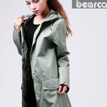 Hooded Ladies Long Raincoats Women Fashion Chubasqueros Impermeables Mujer Waterproof Outdoor Outerwear Ladies Long Raincoats(China (Mainland))