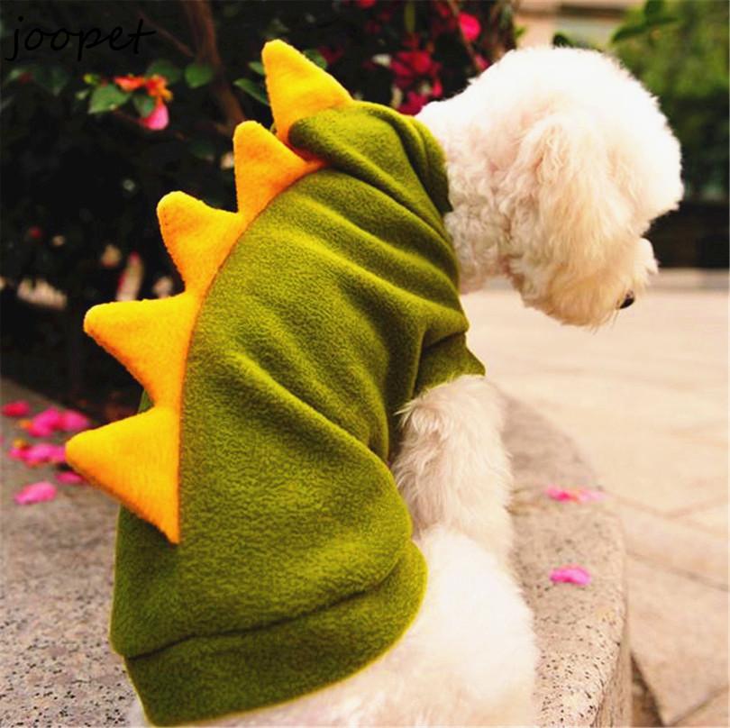 Gratis verzending goedkope hondenkleding xs sml xl veranderen dinosaur kleding voor pet fleece hondenkleding voor winter leuke huisdier producten(China (Mainland))