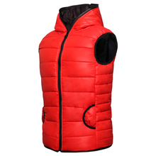 Casual Brand 2016 Mens Vest Waistcoat : Thickness Warm Autumn & Winter Sleeveless Hooded Jacket for Lovers(China (Mainland))