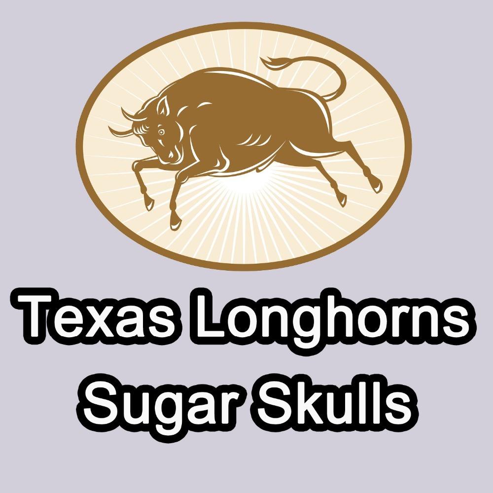 Orange/White 1 PCS/Lot Texas Longhorns Sugar Skulls Pillowcase Cushion Covers(China (Mainland))
