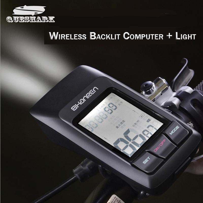 2.4G Wireless USB Speedometer Bike Computer & 300LM Light Multifunctional Bicycle Computer Cycling Waterproof Stopwatch Tracker(China (Mainland))