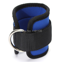 Black Blue Ankle Anchor Strap Pad Durable for Resistance Bands Leg Tubes Fitness Exercise Strength Training Free Shipping