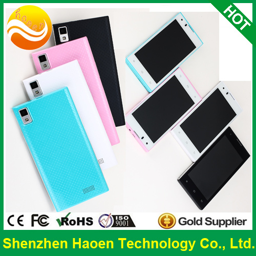 Four Colors New Arrival Mobile Phone Gowin A1 3G Dual Core Android Smart Phone 1800mAh Ultra long Standby Battery Leather Case(China (Mainland))