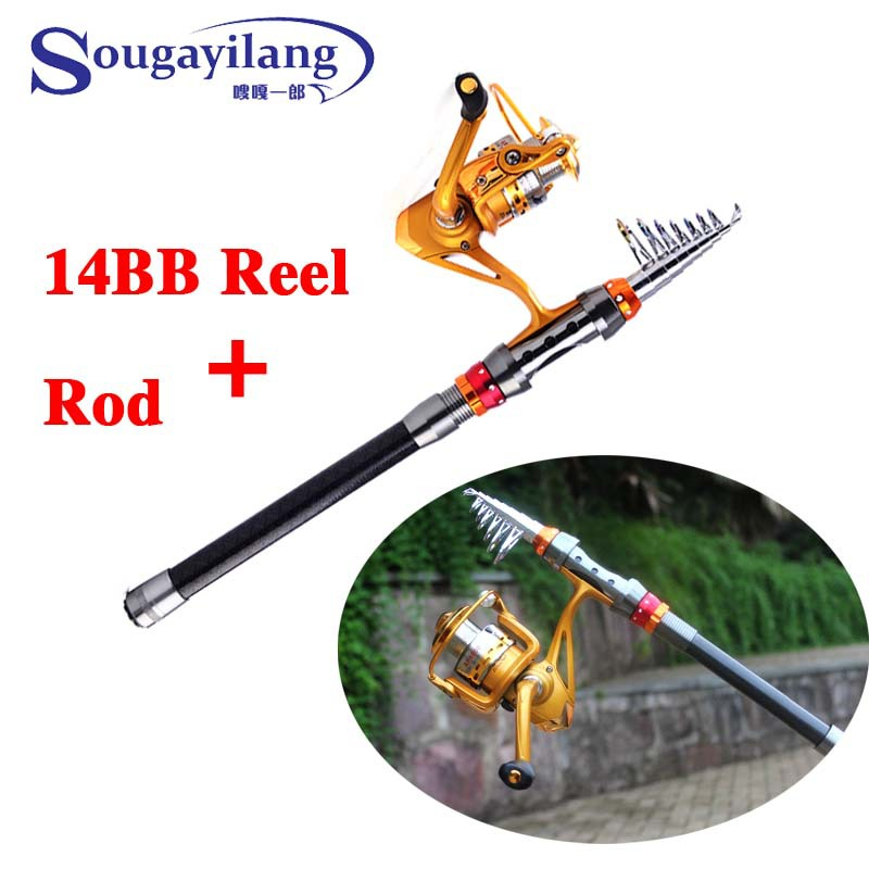 Brand Low Profit Carbon Telescopic Fishing Rod With 14BB Spinning Fishing Reel Spinning Rod Combo For Saltwater Rock Fly Fishing(China (Mainland))