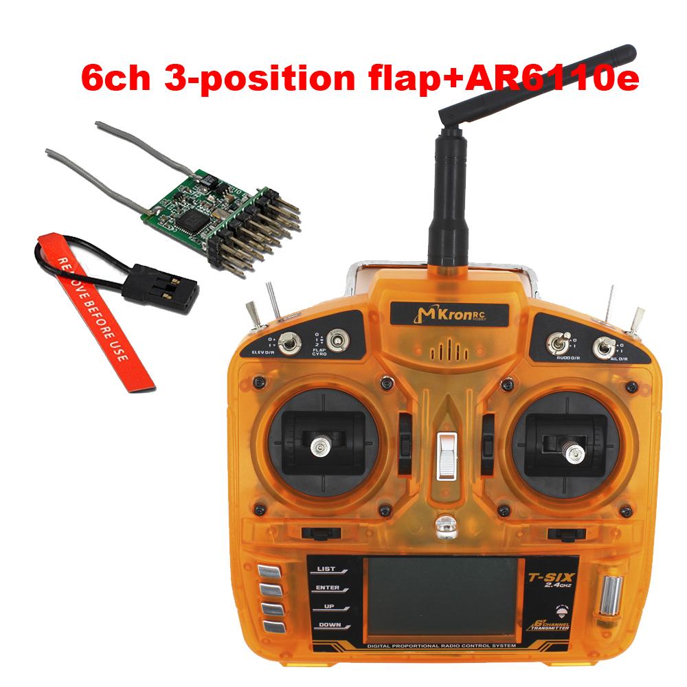 2.4G 6CH RC i6s Radio receiver Transmitter orange controllle + AR6100E receiver RADIO CONTROL better than Futaba transmitter