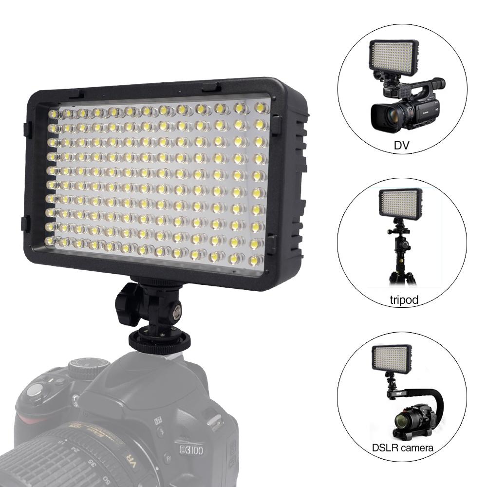 Mcoplus 130 LED Video Photography Light Lighting for Canon Nikon Sony Panasonic Olympus Pentax DV Camera