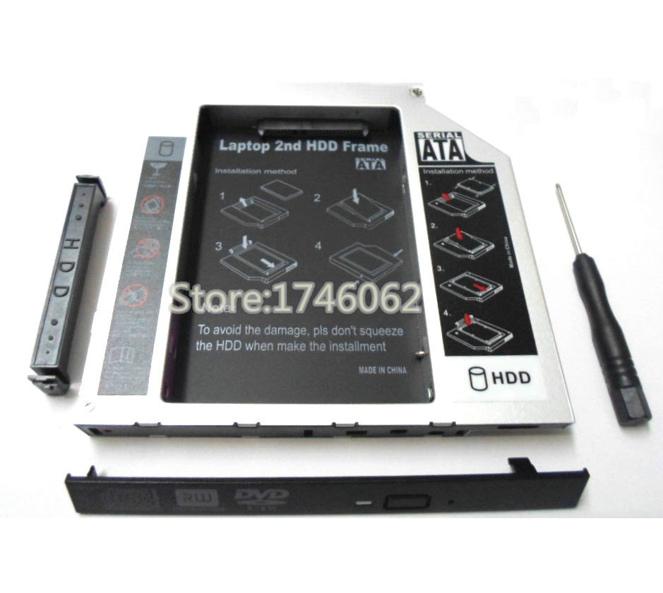 """New for Apple G4 iBook 12"""" 14"""" 1.33 1.2 1.42 GHz Laptop 2nd HDD Caddy Second Hard Drive SuperDrive DVD Optical Bay Replacement(China (Mainland))"""