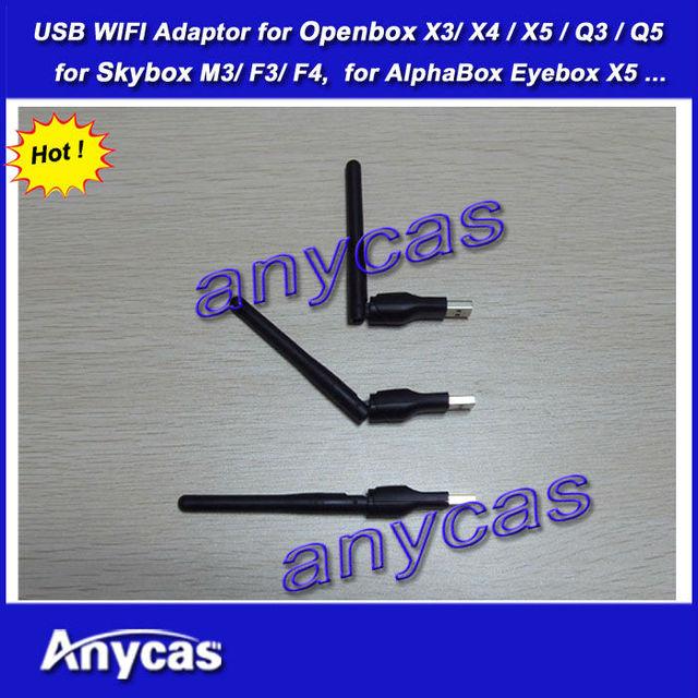 40 peça por lote USB adaptador sem fio wi fi para original openbox x3 x5 skybox F3 f4 m3 rede USB LAN Adapter grátis frete