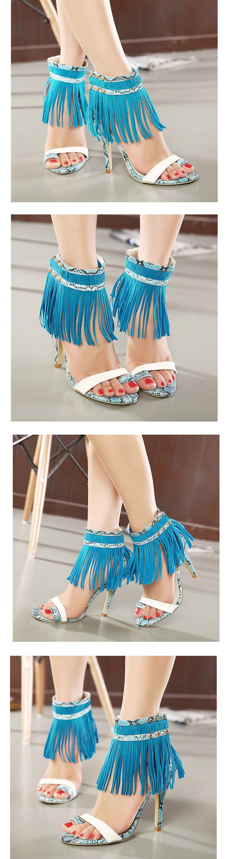 Size 4~9 High Heels Women Pumps Tassel Summer Women Shoes zapatos mujer New Arrival