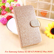 Buy Fashion Bling Glitter Luxury Flip Wallet Case Samsung Galaxy S2 SII GT I9100 S2 Plus i9105 Phone Bag Case for $2.67 in AliExpress store