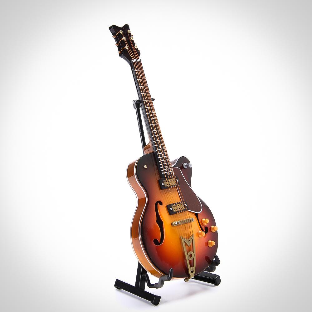 Mini Guitar Music Instrument Ornament model,musical instruments accessories Miniature Guitar 4 button<br><br>Aliexpress