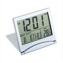 1pcs Calendar Alarm Clock Display date time temperature flexible mini Desk Digital LCD Thermometer cover New Arrival(China (Mainland))