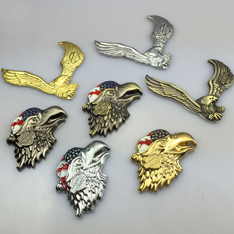 New Car Styling Eagle Car sticker Motrcycle 3D Metal Decal Motor Decoration Accessories(China (Mainland))