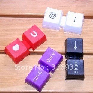 Mix color Keyboard Cute Fashion Contact lens cases