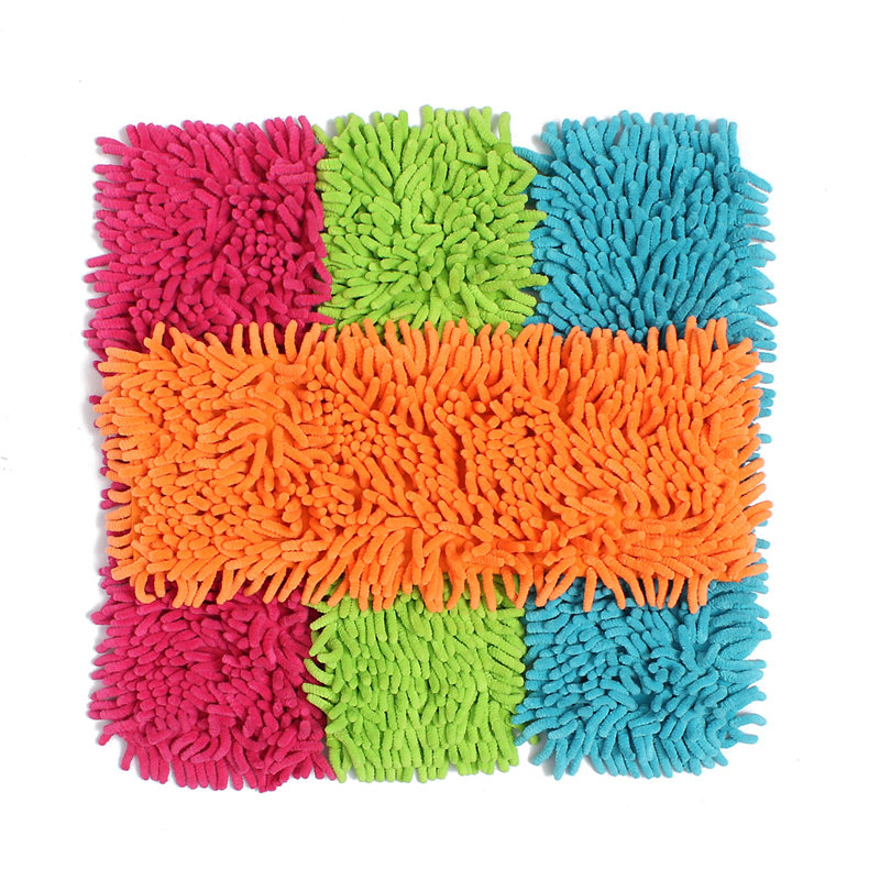 Popular Durable Super Water Absorption Replacement Floor Dust Microfiber Chenille Cleaning Mop Refill Heads Household Cleaner(China (Mainland))