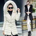Women Winter Coat New thicken down cotton jacket Fur hooded for Women Warm Coat woman cotton