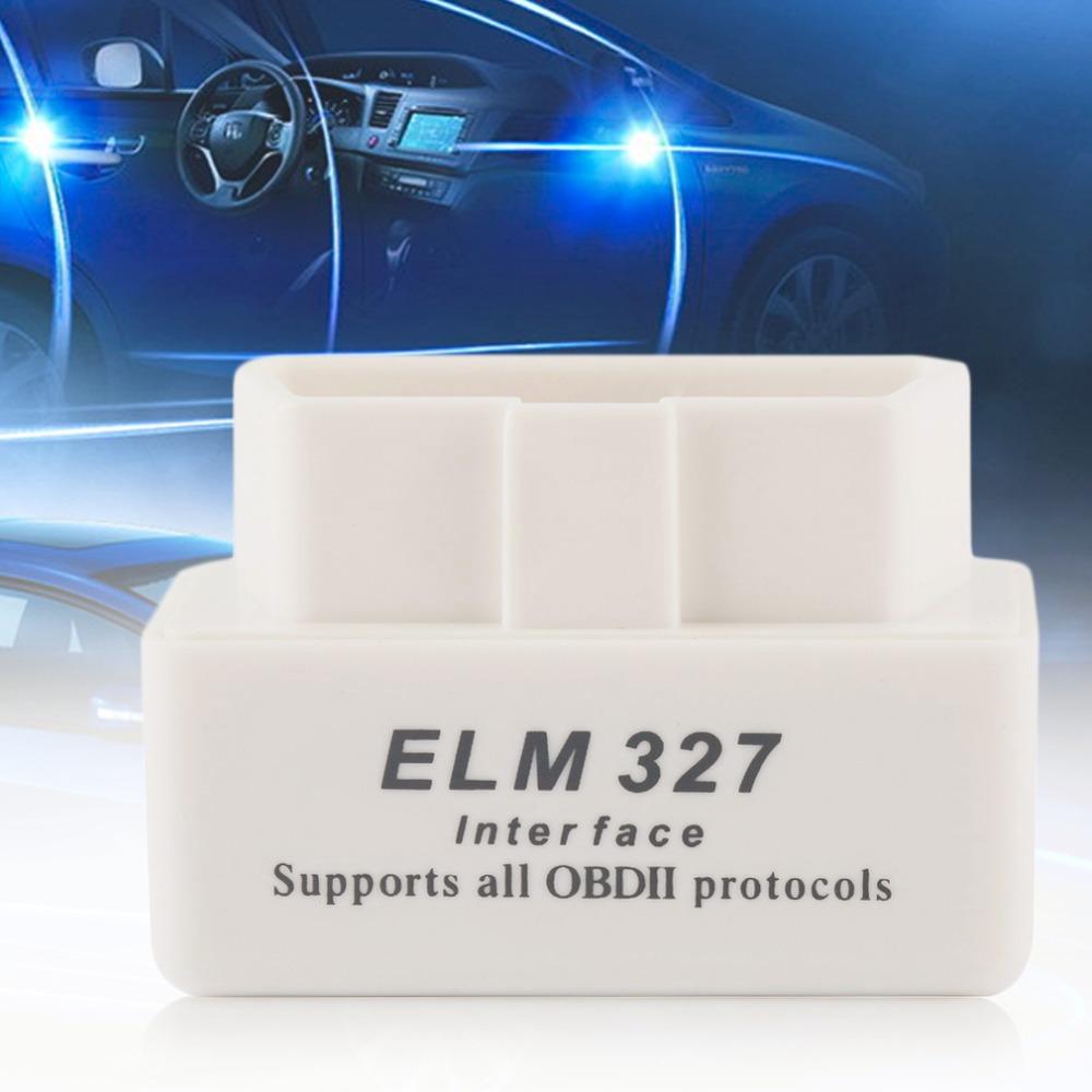 MINI ELM327 Car Auto Interface Scanner Bluetooth OBD2 V2.1 White Smart Car Diagnostic Interface ELM 327 Wireless Scan Tool(China (Mainland))