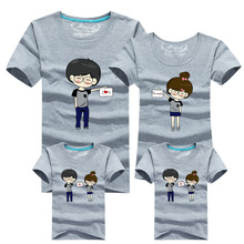 1psc Mother and Daughter Clothes 2016 Designer LOVE Printed Family Matching Clothing Family Look Women Child Girls Boys t shirts