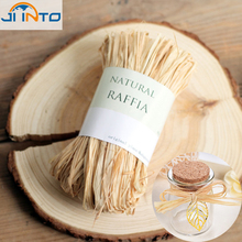 Buy Natural raffia dry straw paper gift wrap candy box packaging rope Natural Raffia Rope wedding party decoration flower wrapping for $5.39 in AliExpress store