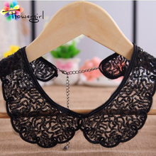 Min order $10 (Mix order) Vintage Kerea Black Handmade Women Lace Collar Fashion Necklace Jewelry [L024](China (Mainland))