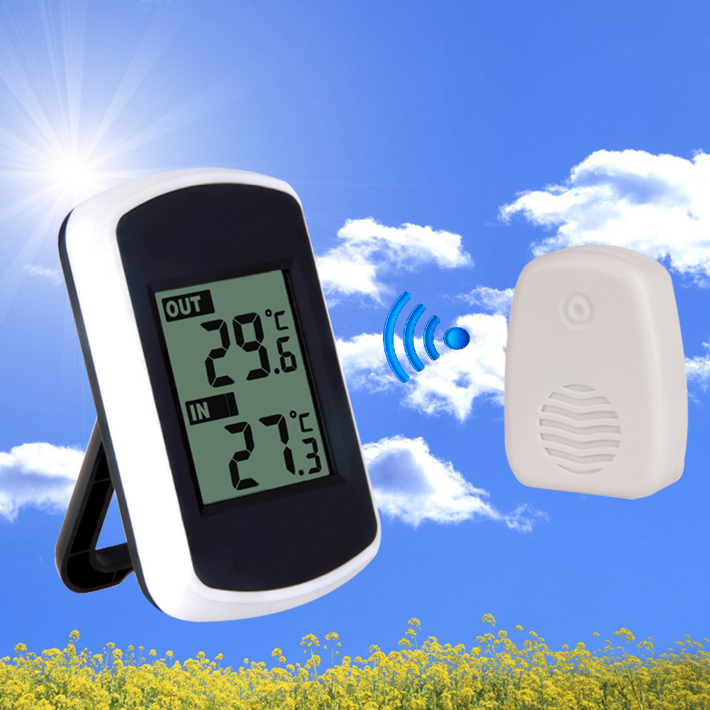 LCD Digital Ambient Weather Wireless Thermometer with Indoor and Outdoor Temperature Thermometer Weather Station Tester Tool(China (Mainland))
