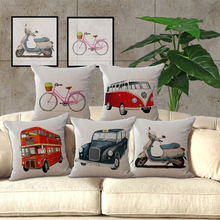 Buy Wholesale price 1 piece Vintage Vehicle Pattern Seat Cushion Decorative Home Decor Sofa Chair Throw Pillows Case 45*45cm for $2.15 in AliExpress store