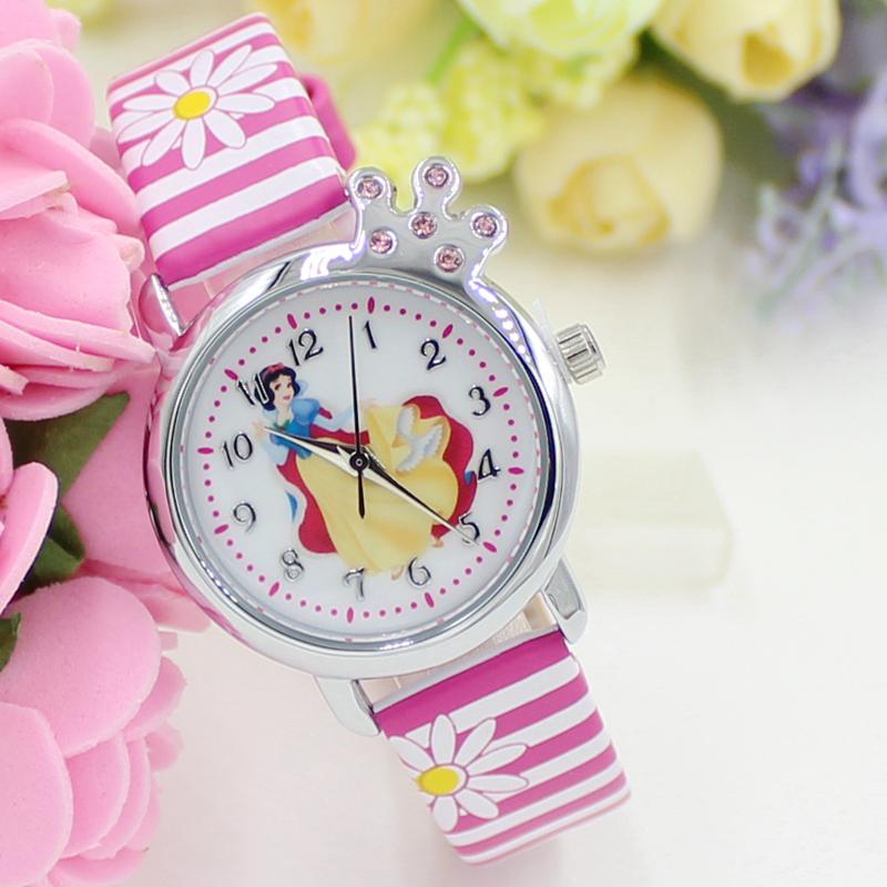 Гаджет  New Cartoon 2015 Snow White  Watches Fashion Children Watch Girls Kids Students Leather Sports Wristwatches Gifts k1184 None Часы