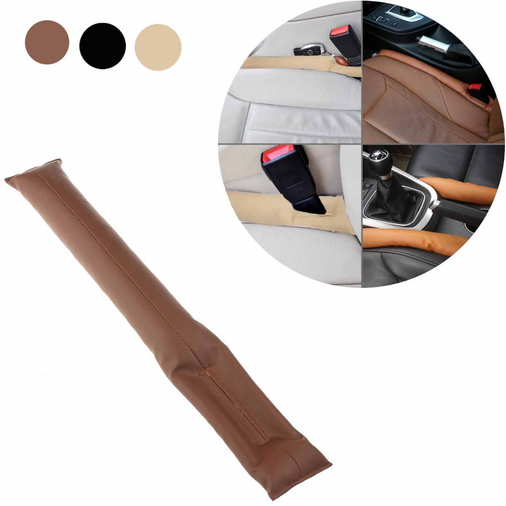 2015 HOT SALE Universal PU Leather Car Vehicle Seat Pad Hand Brake Gap Holster Spacer Filler Leakproof Padding Coverage Fillers(China (Mainland))