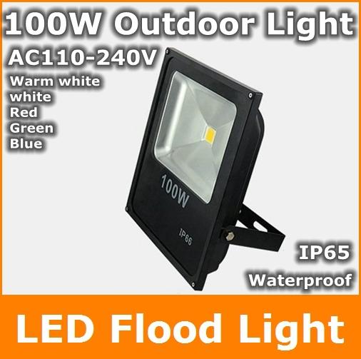 100w led flood outdoor floodlight ac110v 240v warm cold white red